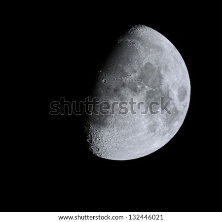 close up moon surface with details