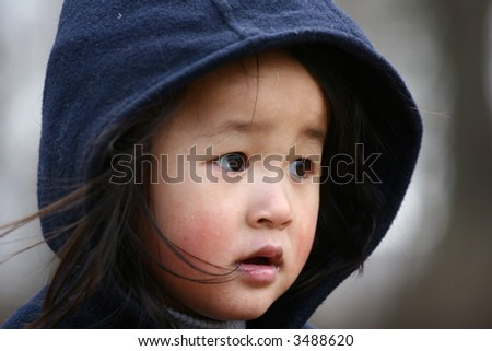 close up of child with winter hat