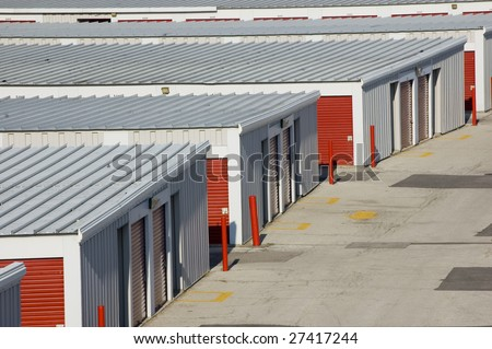 close up of  garage arrangement /  industrial background
