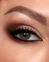 Closeup eyes make up with eye shadows