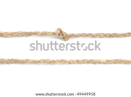 Closeup of a rope isolated on white