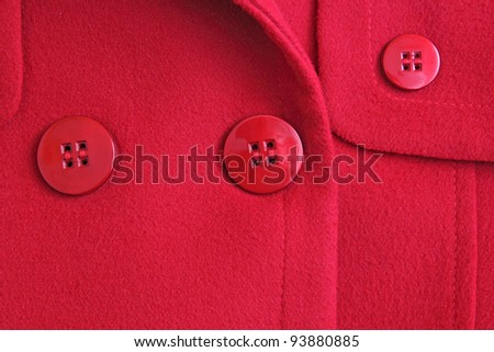 closeup of red coat - stock photo