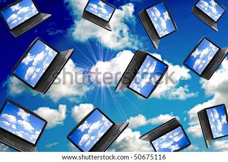 Cloud Computing Technology Concept - stock photo