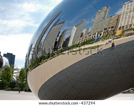 """""""Cloud Gate,"""" (""""The Bean""""), Millennium Park, Chicago"""