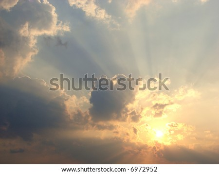 clouds and sun-rays