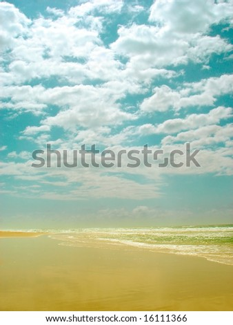 Clouds,sky and beach