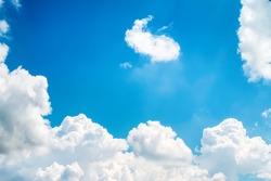 Clouds white patterns on bright bluesky background