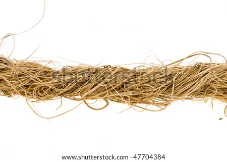 Coarse coir rope from coco fiber