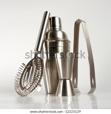 cocktail set bar bartender drink inox shaker