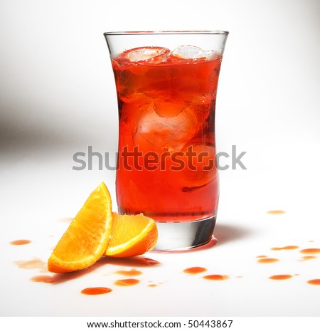 cocktail summer colorful with orange on a gradient background