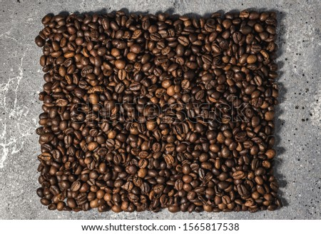 coffee beans on burlap background with copy space for text #1565817538