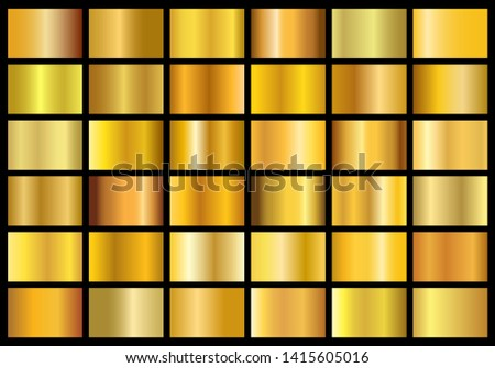 collection of golden metal gradients