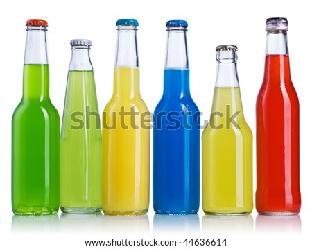 Color bottle isolated on a white