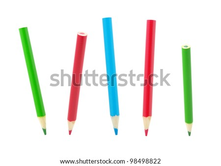 Color pencils isolated on a white
