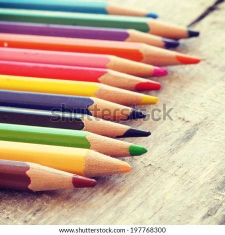 Color pencils old retro vintage style #197768300