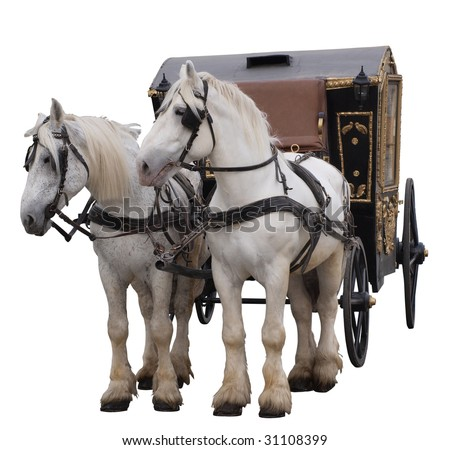Color photo of an old tsarist carriages. Isolated on a white background