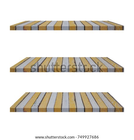 50992f2d87e33 3 Color Vintage Wood Shelves Table isolated on white background