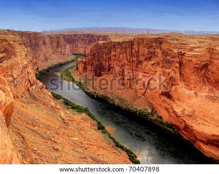 Colorado river - stock photo