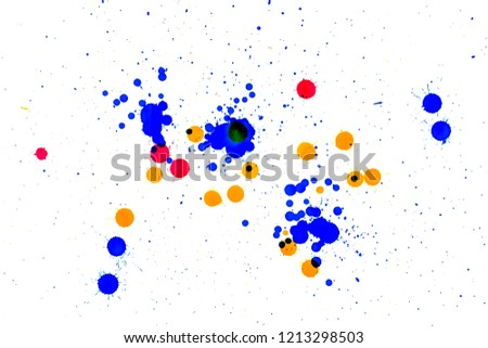 colored blots on white                              #1213298503