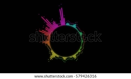 colorful bright abstract audio spectrum lines background