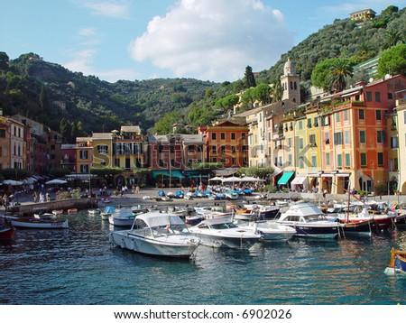 Colorful Harbor in Portofino, Italy