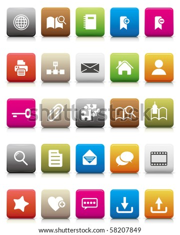 colorful icons -- Internet and Blogs - stock photo