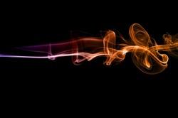 colorful ink background,Violet,purple and Orange smoke