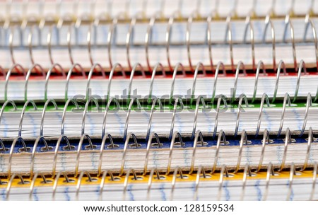 colorful notebooks for background uses - stock photo