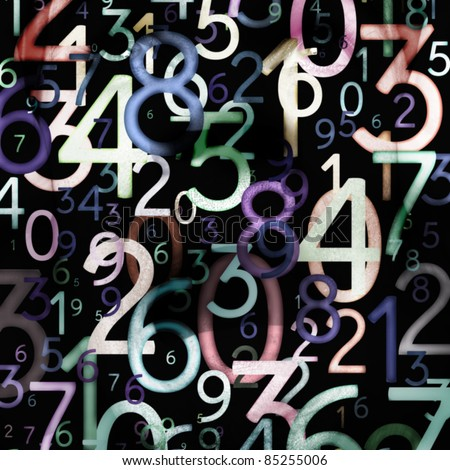 colorful numbers. Use for background or texture