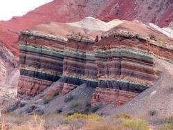 Colorful rock in Quebrada de Humauaca, Argentina