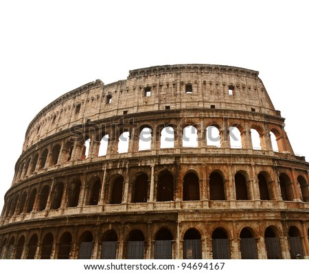 Colosseum or Coliseum  in Rome, isolated - stock photo