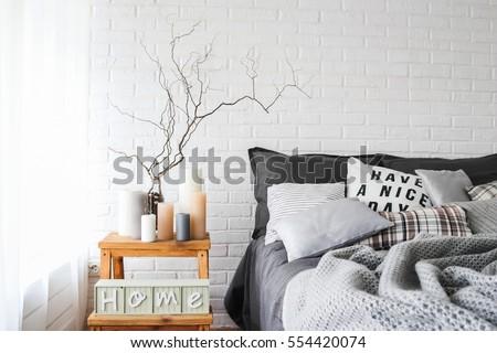 comfort  interior of bedroom...