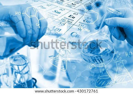 Concepts in Chemistry, researcher working in a laboratory. #430172761