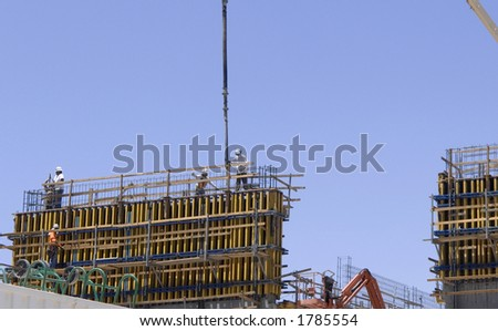 concrete construction in progress,