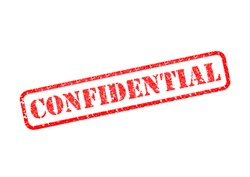 'CONFIDENTIAL' Red Stamp over a white background.