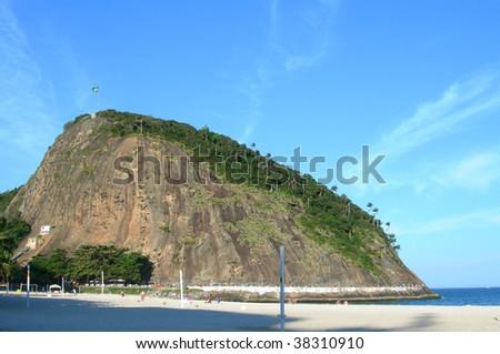 Copacabana beach in Rio de Janeiro, the city of the 2016 Olympiad, Brazil, South America