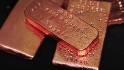 Copper bar bullion for investing money