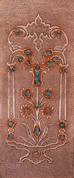 Copper Door Surface, Copper Craft, Copper Pattern Processing flourish pattern, copper surface, antique door