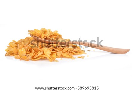 corn flakes isolated on white background  #589695815