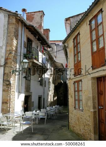 cosy bar in  Santiago de Compostela, Galicia, Spain