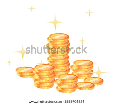 Countless golden coins piled up 1