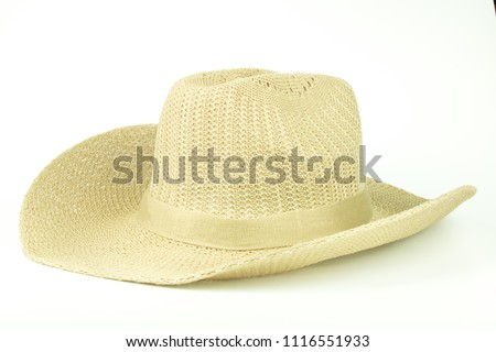 Cowboy Hat hand-made in thailand isolated on white background  #1116551933