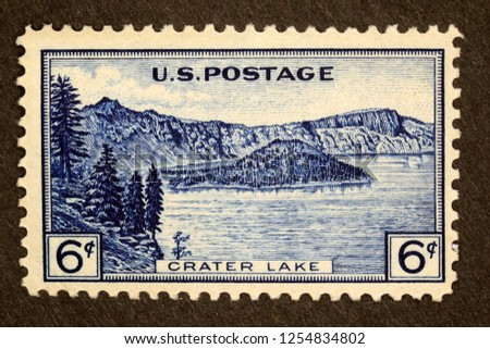 #745 Crater Lake 6 cent Postage Stamp #1254834802