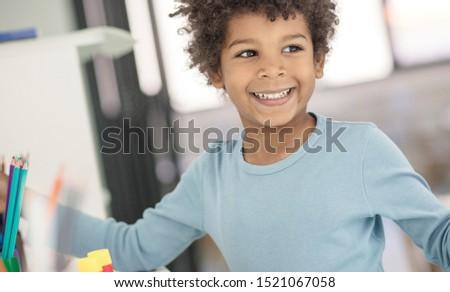 Creative boy. Little boy in preschool. #1521067058