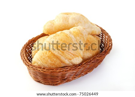 Croissants on the white background