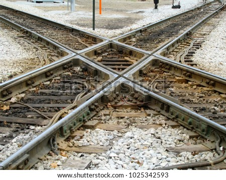 Crossing of two railroads