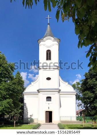 Ácsteszér St Marton Bishop Church - Ácsteszéri Szent Márton Püspök templom Stock fotó ©