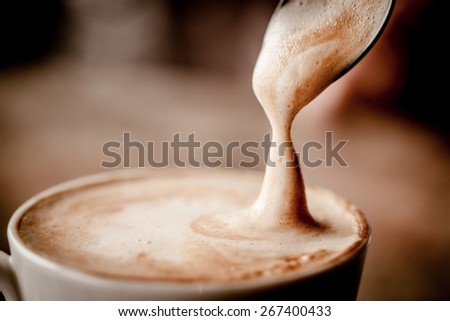 Cup of Cappuccino Coffee  #267400433