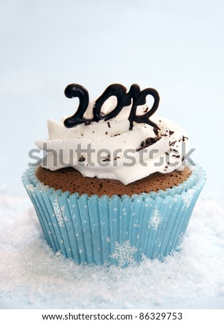 2012 cupcake - stock photo