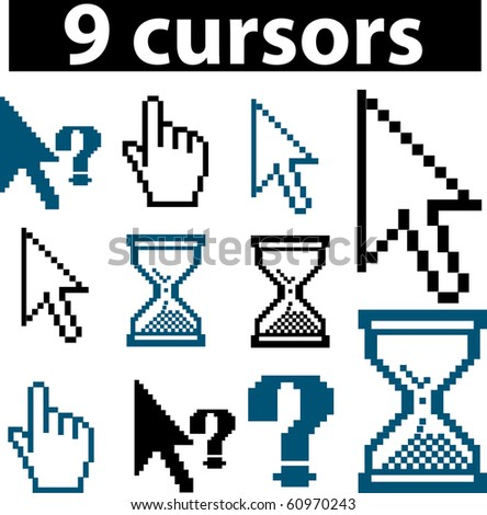 9 cursors. raster version. see more professional signs in my portfolio